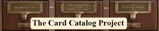 The Card Catalog Project